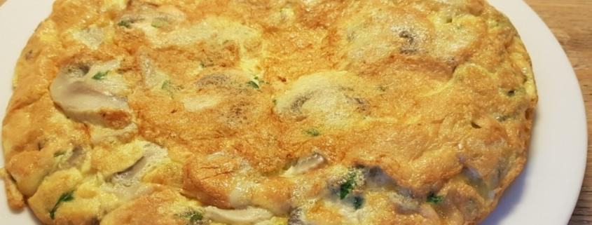 frittata ai funghi champignon